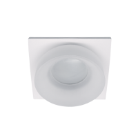 SA-045/1 SINGLE DOWNLIGHT SQUARE WHITE/WHITE