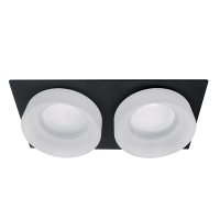 SA-045/2 DOUBLE DOWNLIGHT SQUARE BLACK/WHITE