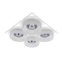 SA-045/4 QUADRUPLE DOWNLIGHT SQUARE WHITE/WHITE