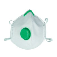 VERTICALLY FOLDING RESPIRATORY MASK FFP1