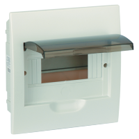 PLASTIC DISTRIBUTION 6 WAY BOX BUILT-IN MOUNTING