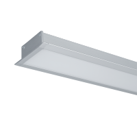 LED PROFILES RECESSED MOUNTING S48 24W 4000K 1200MM GREY