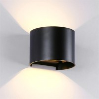 LED WALL LIGHT ROUND 2X5W 4000K IP54 BLACK